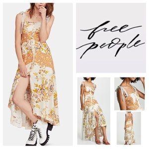 Free People Lover Boy Printed Maxi Dress.  NWT.